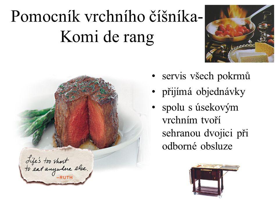 Pomocník vrchního číšníka-Komi de rang