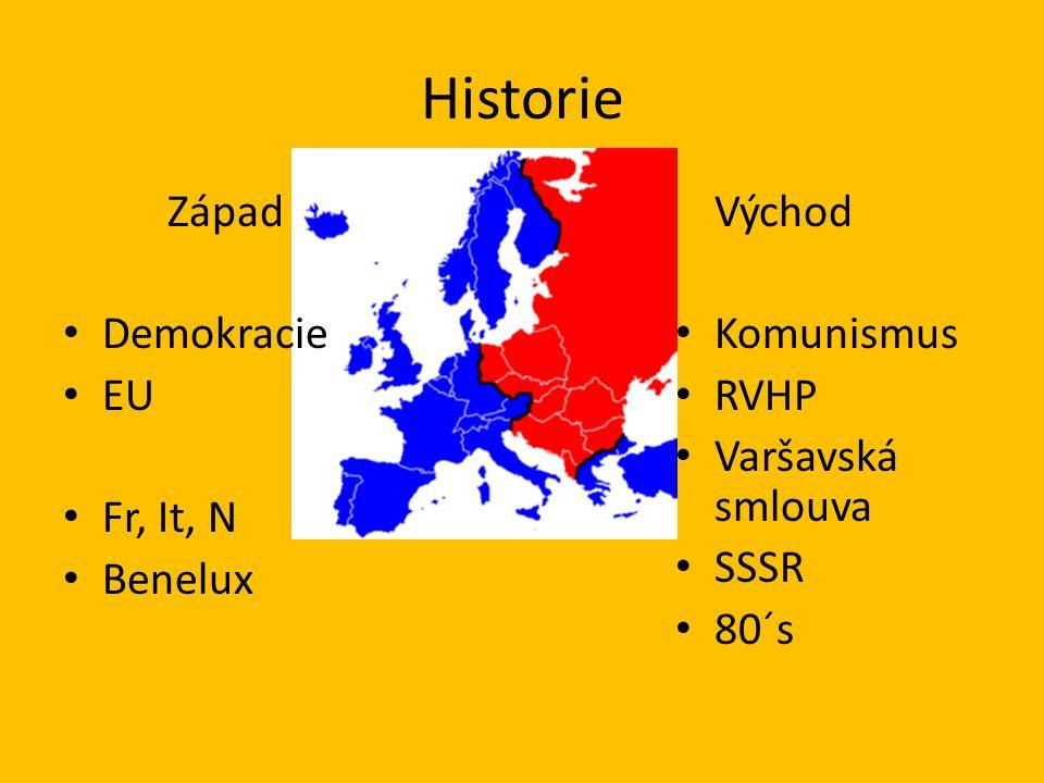 Historie Východ Demokracie Komunismus EU RVHP Varšavská smlouva