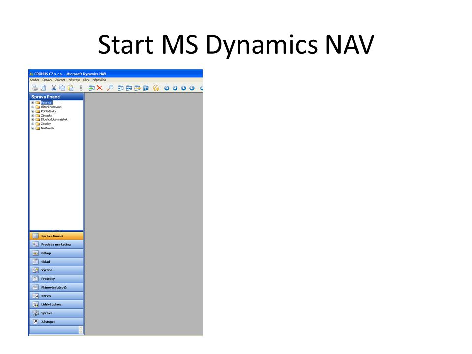 Start MS Dynamics NAV