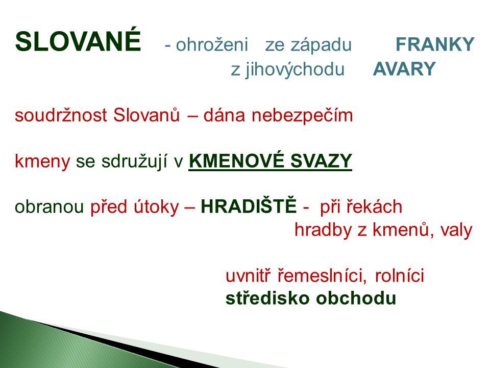SLOVANÉ - ohroženi ze západu FRANKY
