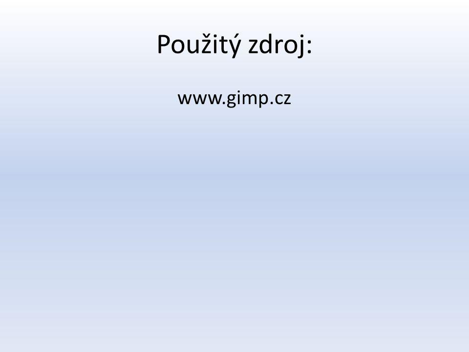 Použitý zdroj: www.gimp.cz