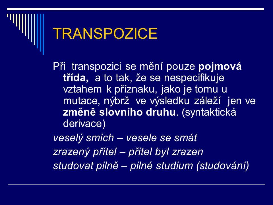 TRANSPOZICE