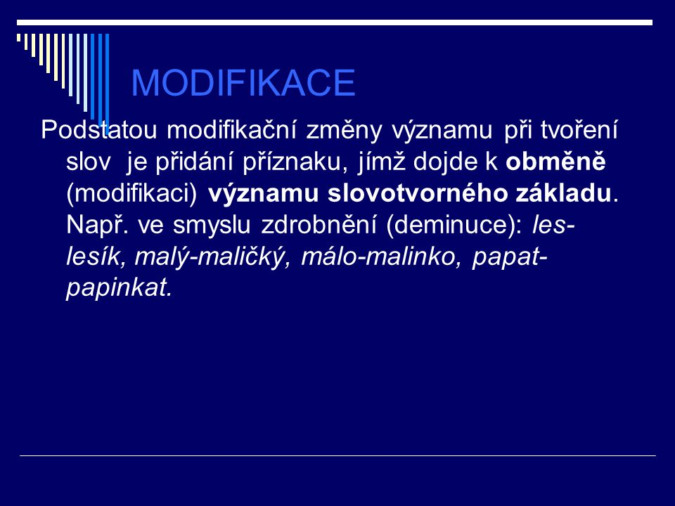 MODIFIKACE