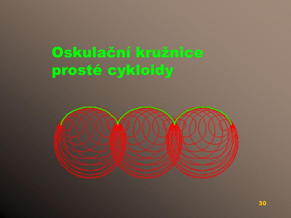 Oskulační kružnice prosté cykloidy