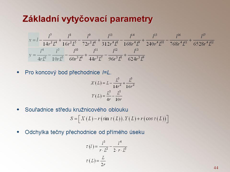 Základní vytyčovací parametry