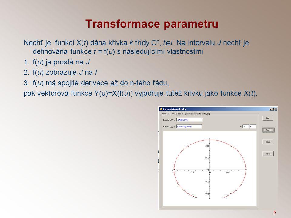 Transformace parametru