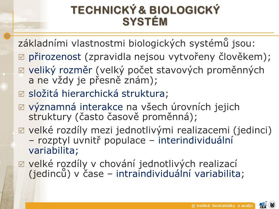 TECHNICKÝ & BIOLOGICKÝ SYSTÉM