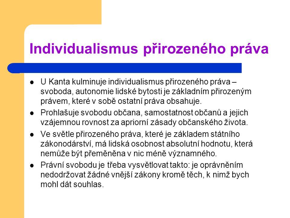Individualismus přirozeného práva