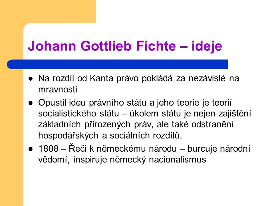 Johann Gottlieb Fichte – ideje