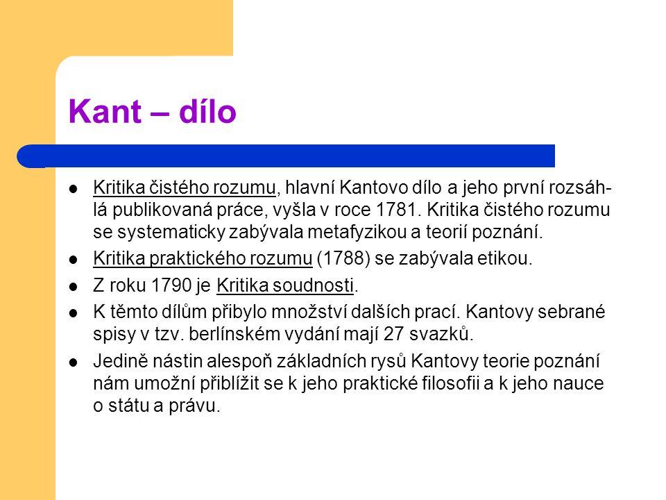 Kant – dílo