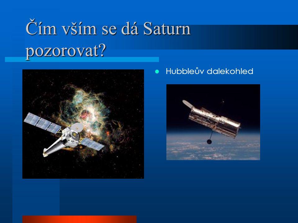 Čím vším se dá Saturn pozorovat
