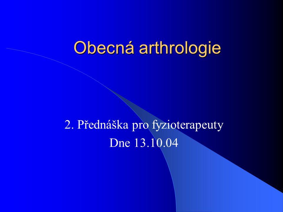 2. Přednáška pro fyzioterapeuty Dne 13.10.04