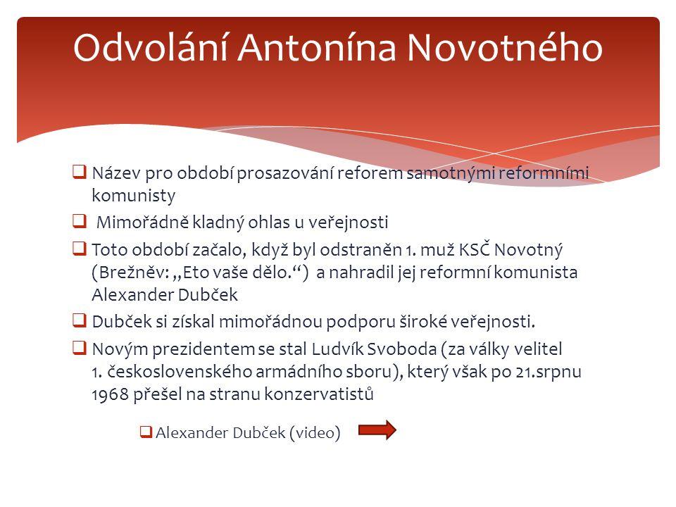 Odvolání Antonína Novotného