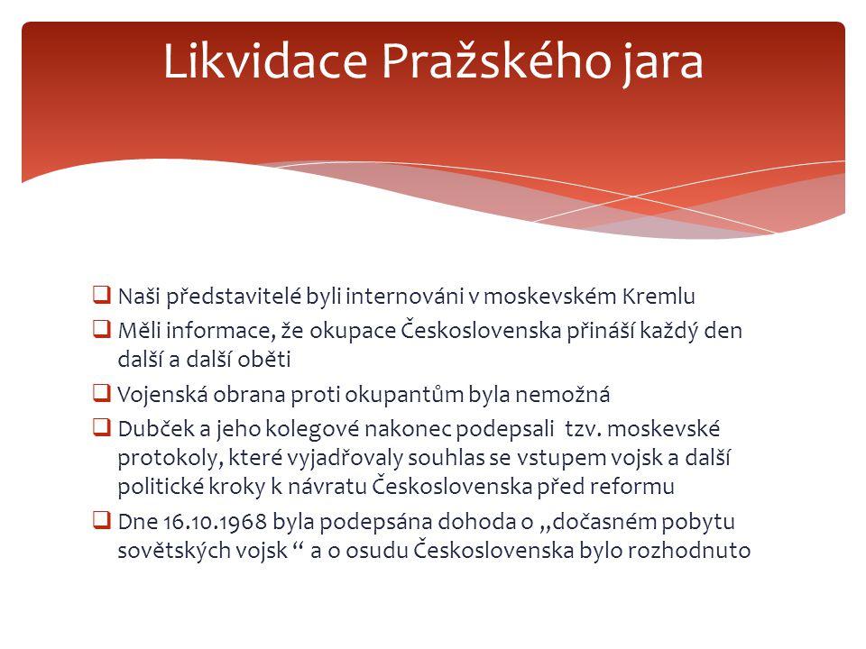 Likvidace Pražského jara