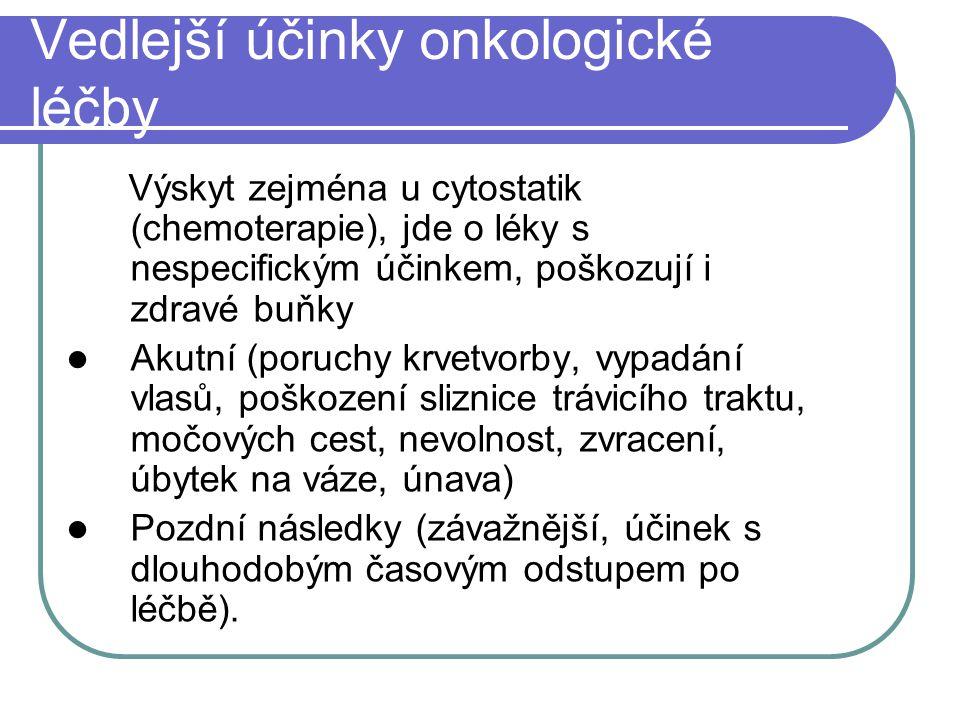 Vedlejší účinky onkologické léčby