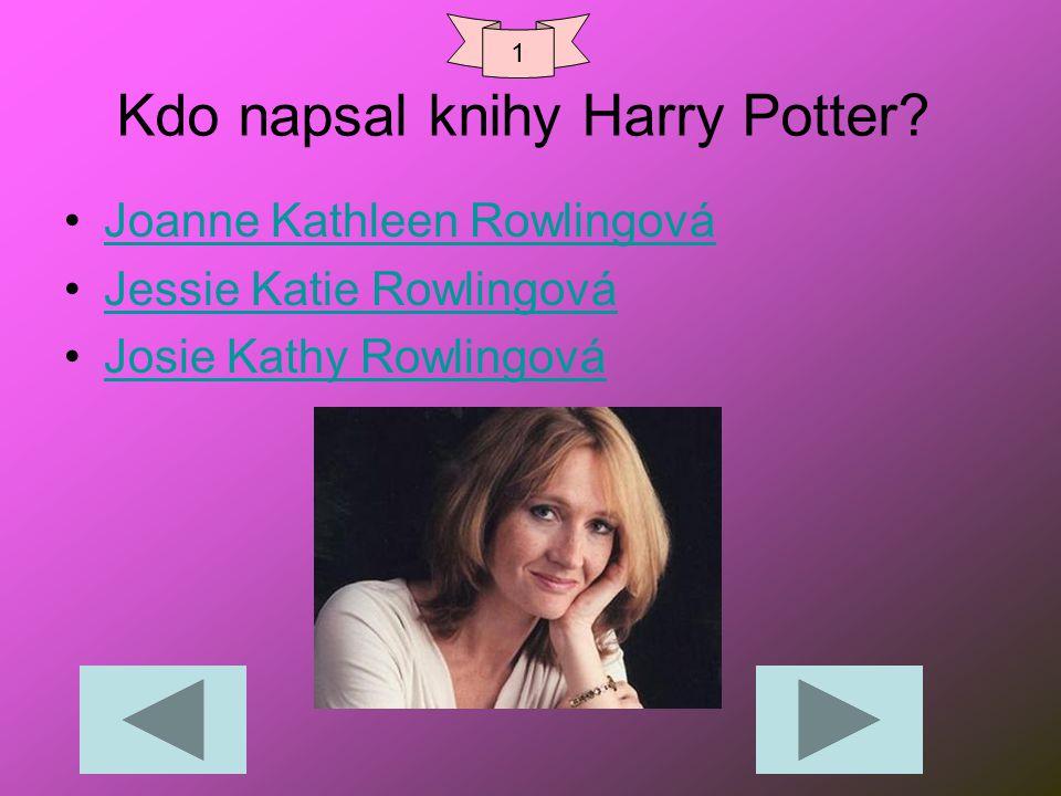 Kdo napsal knihy Harry Potter