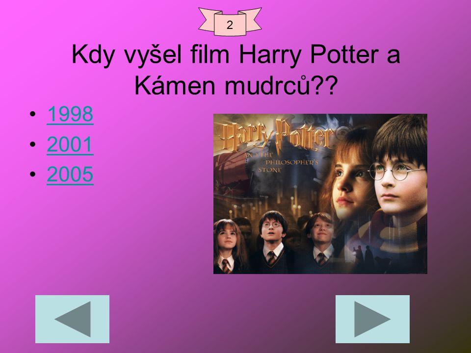 Kdy vyšel film Harry Potter a Kámen mudrců