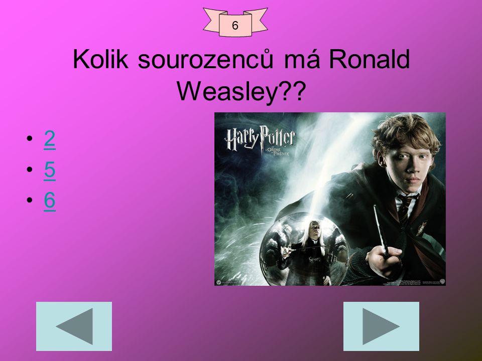 Kolik sourozenců má Ronald Weasley