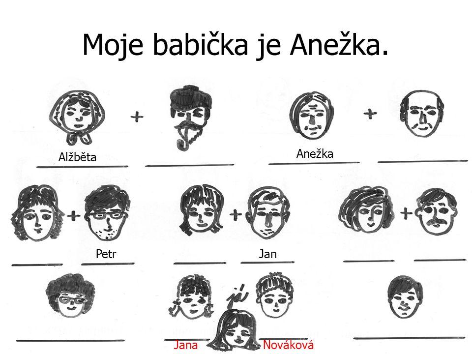 Moje babička je Anežka. Anežka Alžběta Petr Jan Jana Nováková