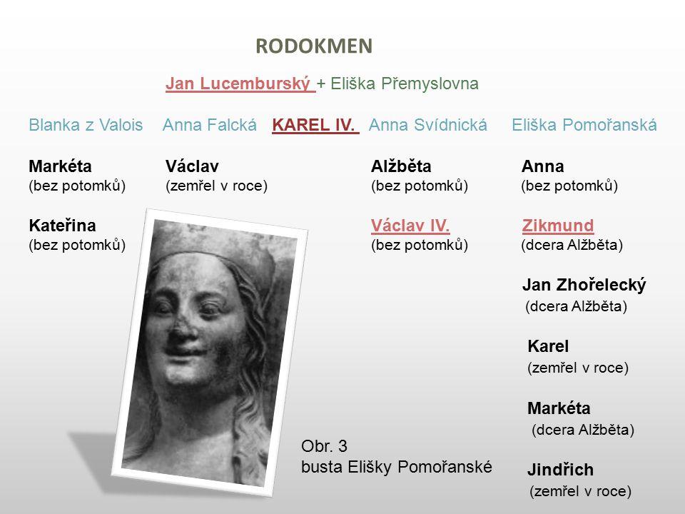 rodokmen Jan Lucemburský + Eliška Přemyslovna