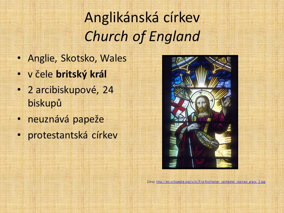 Anglikánská církev Church of England