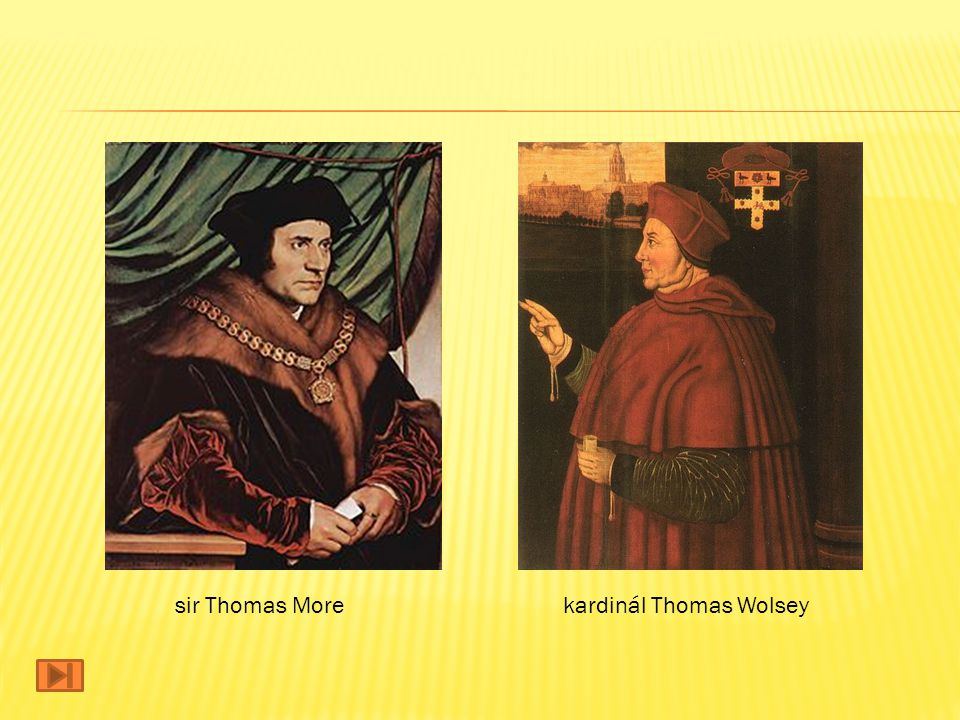 sir Thomas More kardinál Thomas Wolsey