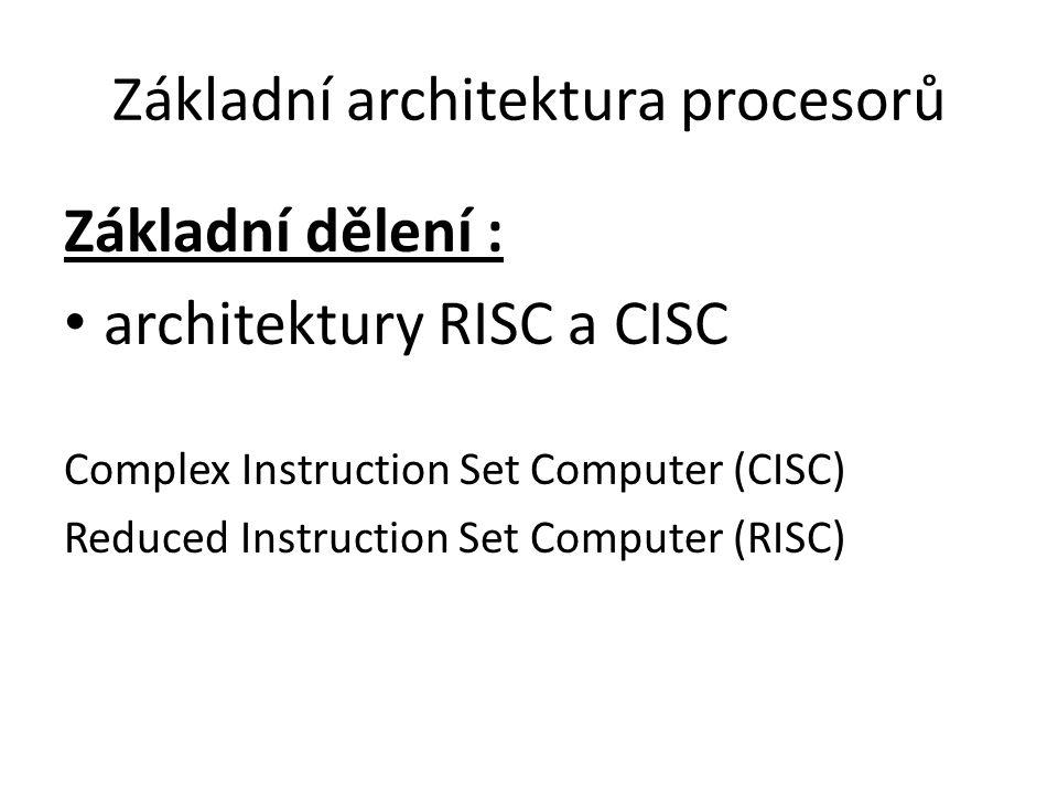 Základní architektura procesorů