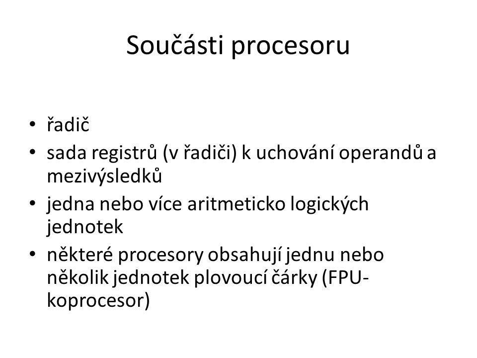 Součásti procesoru řadič