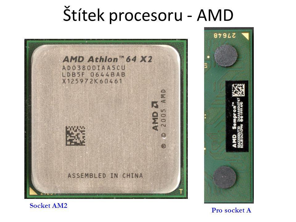 Štítek procesoru - AMD Socket AM2 Pro socket A