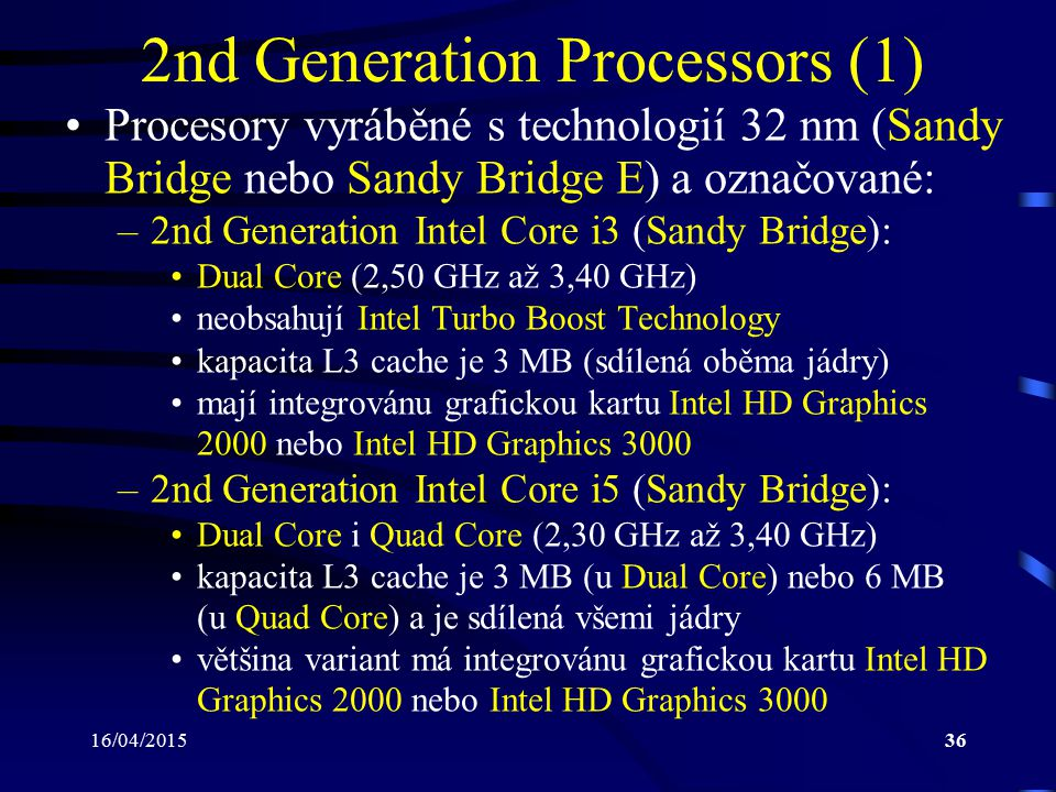 2nd Generation Processors (1)