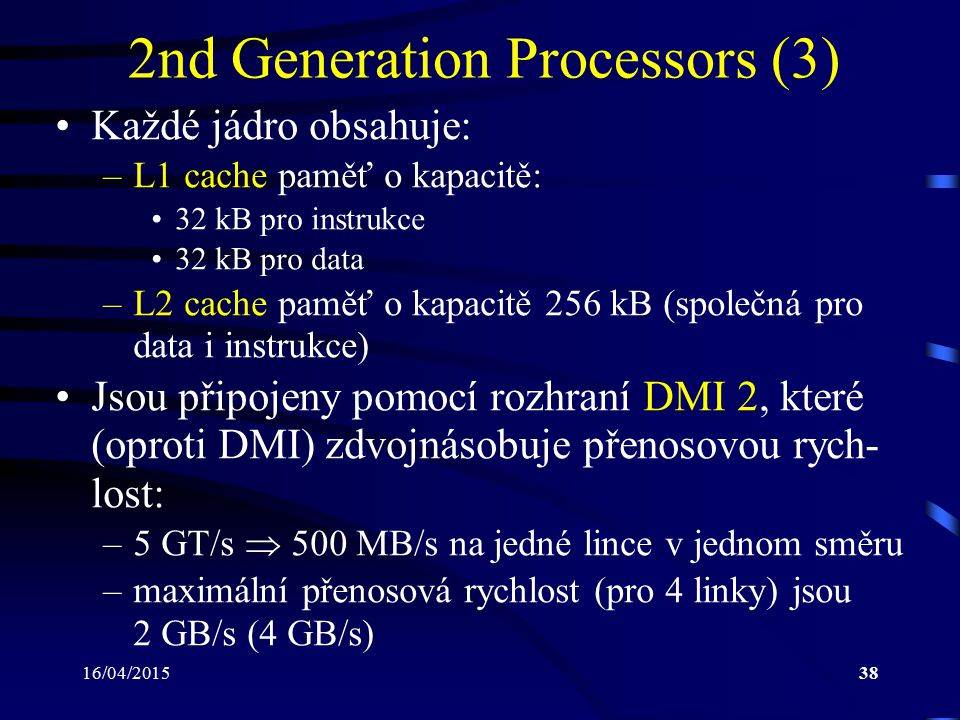 2nd Generation Processors (3)