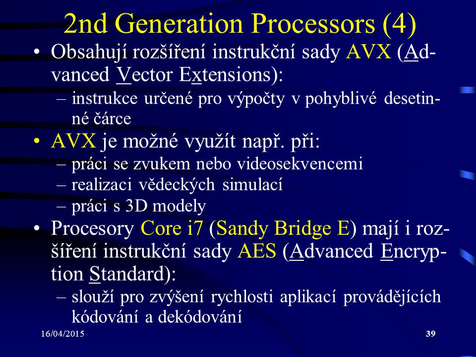 2nd Generation Processors (4)