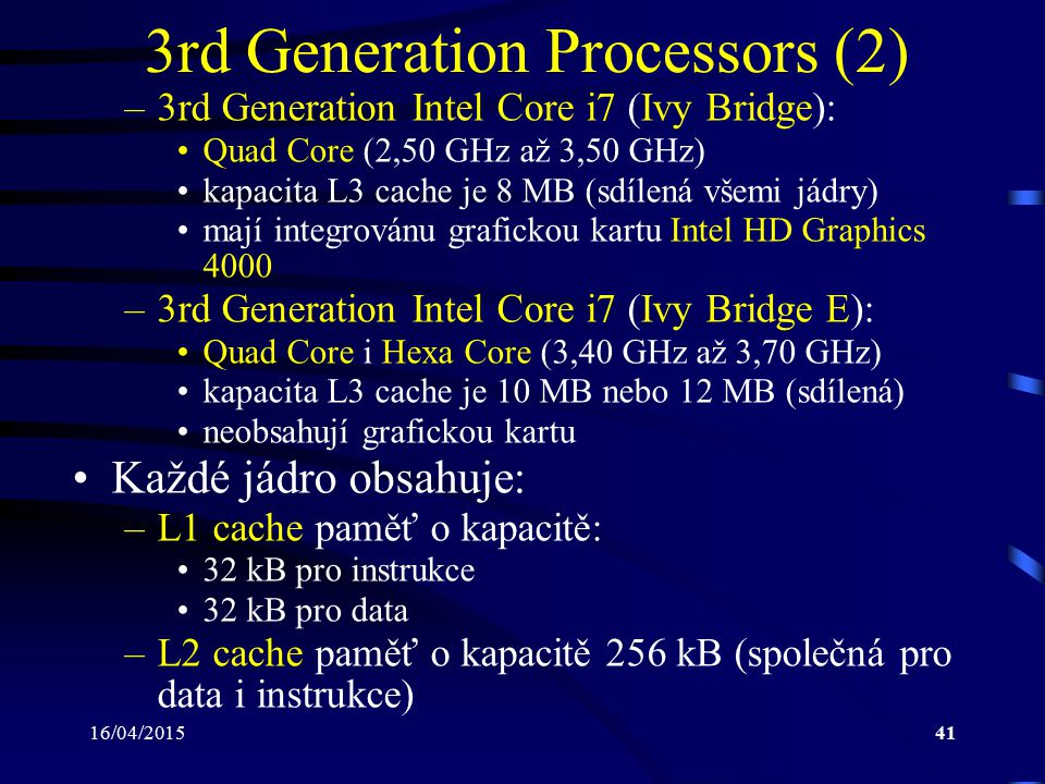 3rd Generation Processors (2)