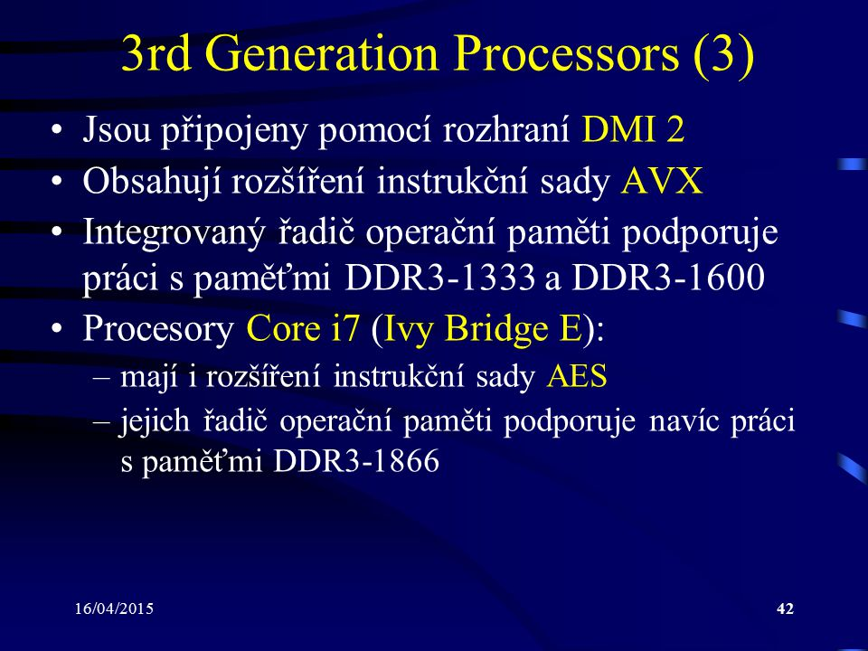 3rd Generation Processors (3)