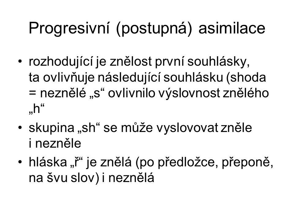Progresivní (postupná) asimilace