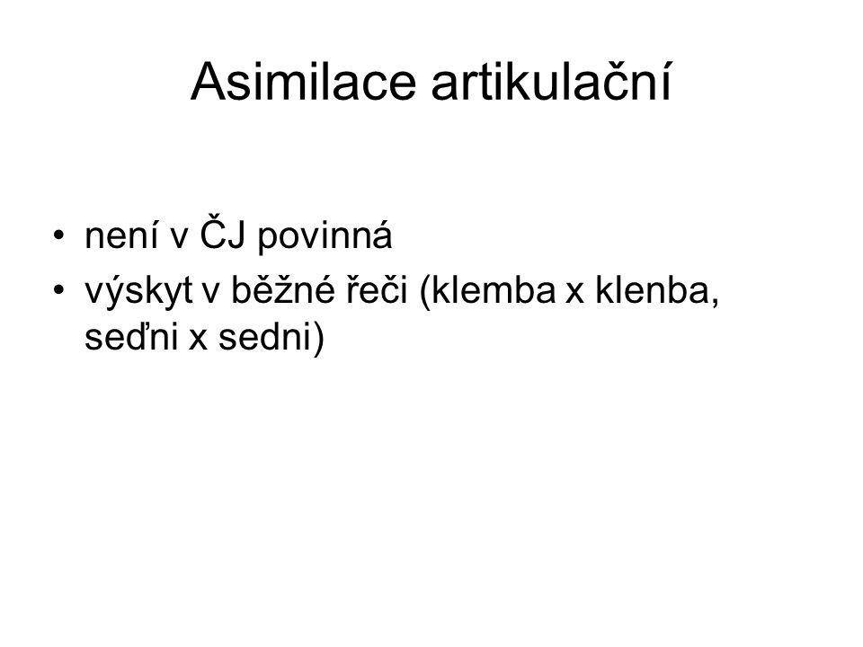 Asimilace artikulační