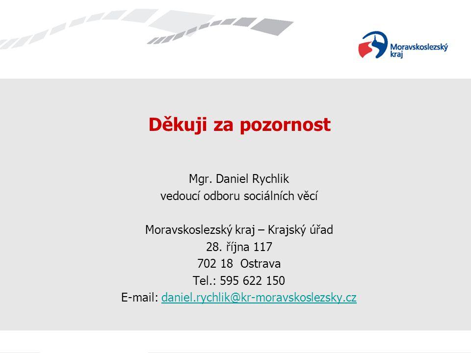 Děkuji za pozornost Mgr. Daniel Rychlik vedoucí odboru sociálních věcí