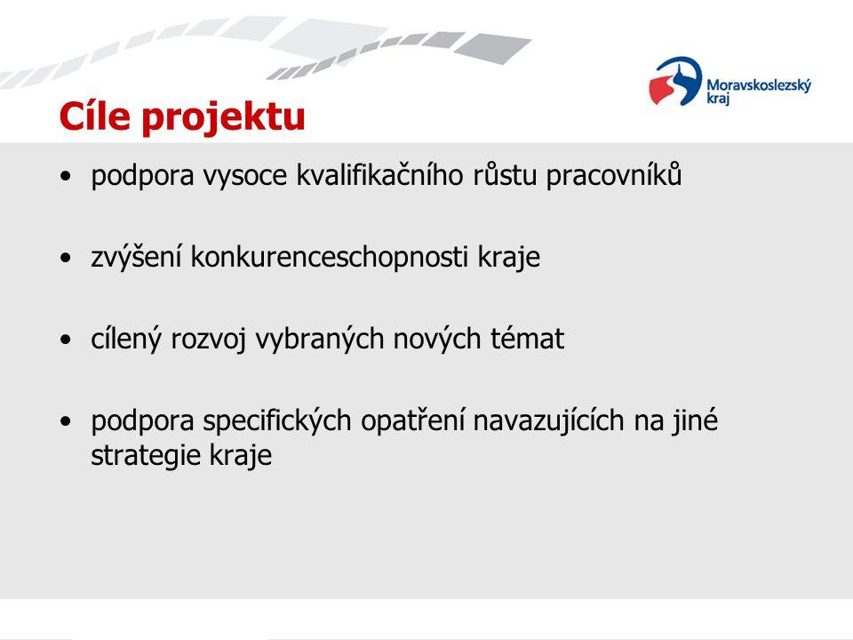 Cíle projektu podpora vysoce kvalifikačního růstu pracovníků