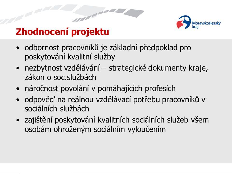 Zhodnocení projektu odbornost pracovníků je základní předpoklad pro poskytování kvalitní služby.