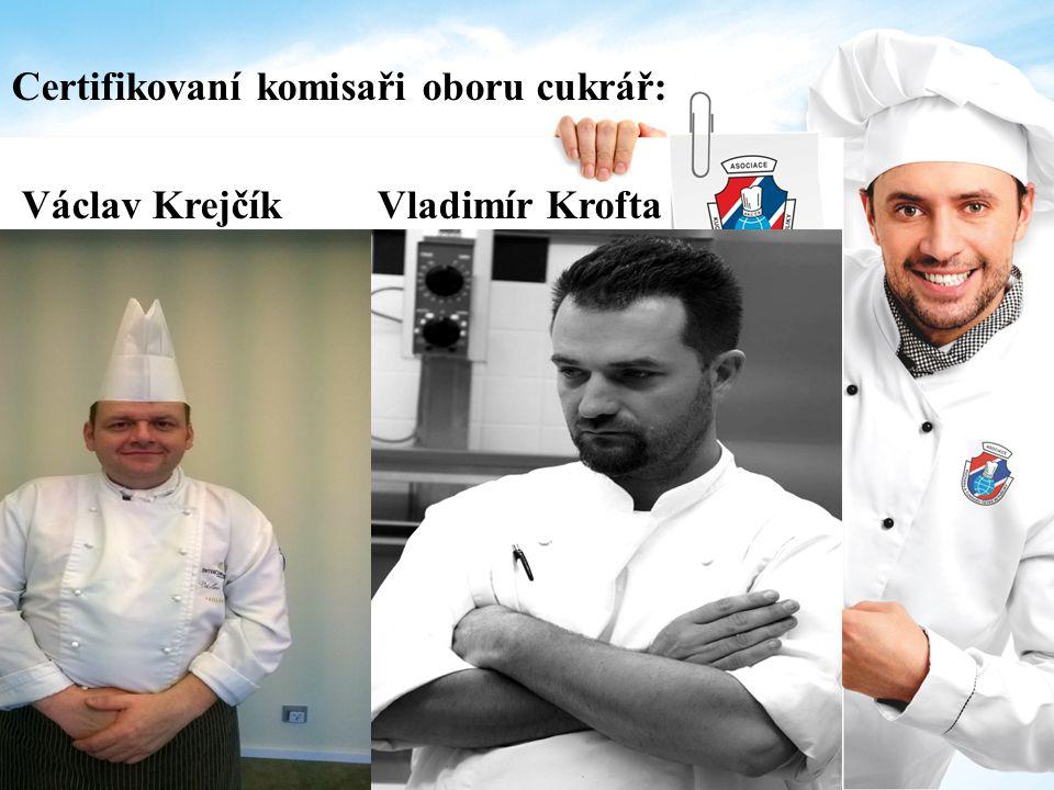 Certifikovaní komisaři oboru cukrář: Václav Krejčík Vladimír Krofta