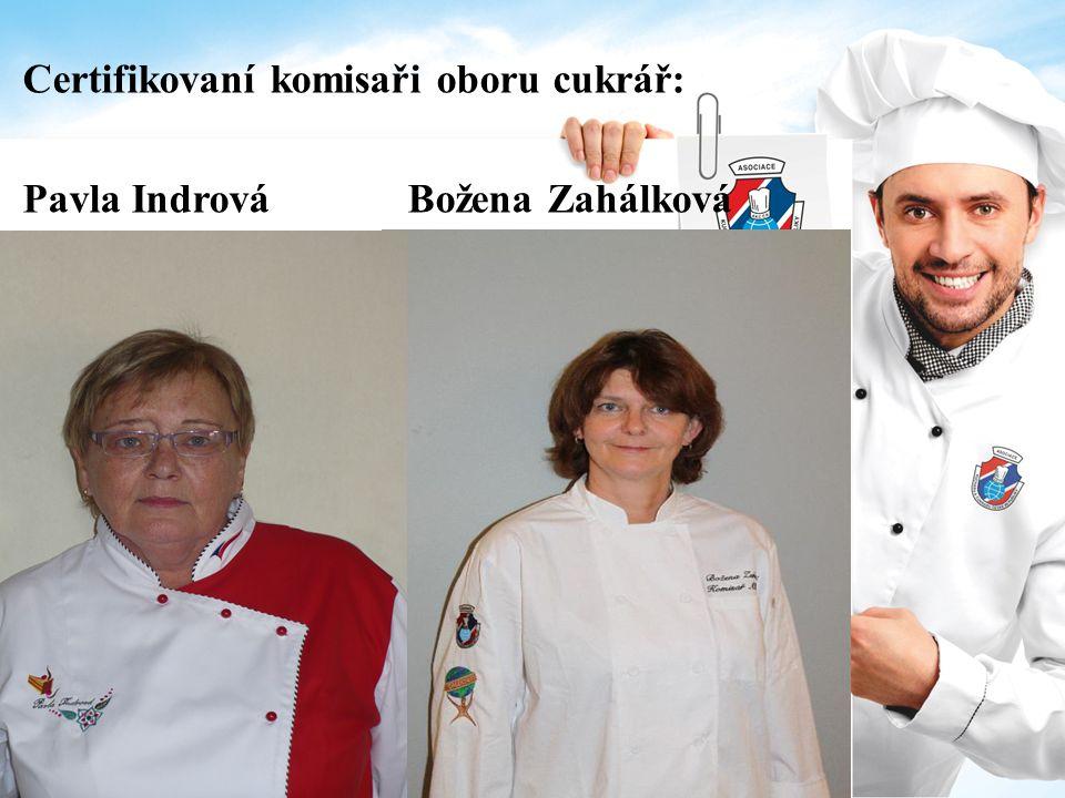 Certifikovaní komisaři oboru cukrář: Pavla Indrová Božena Zahálková