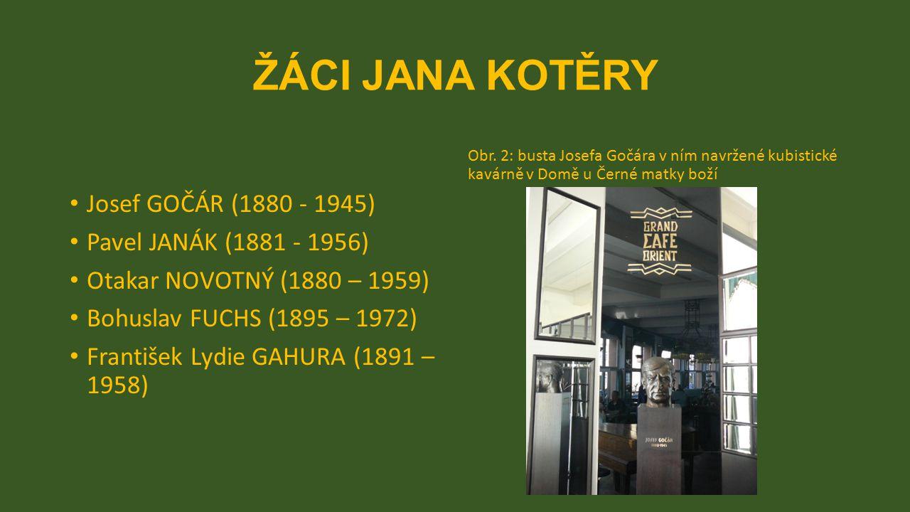 ŽÁCI JANA KOTĚRY Josef GOČÁR (1880 - 1945) Pavel JANÁK (1881 - 1956)