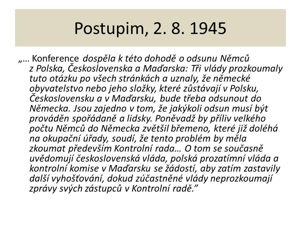 Postupim, 2. 8. 1945