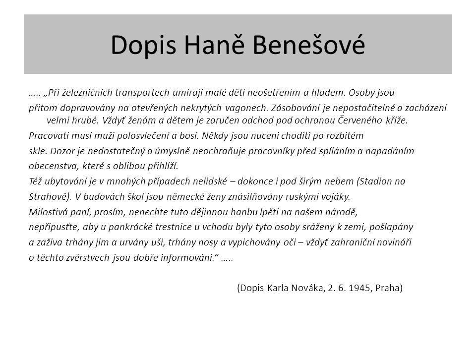 Dopis Haně Benešové