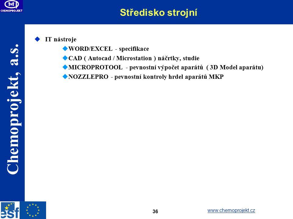 Středisko strojní IT nástroje WORD/EXCEL - specifikace