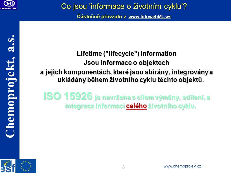 Lifetime ( lifecycle ) information Jsou informace o objektech