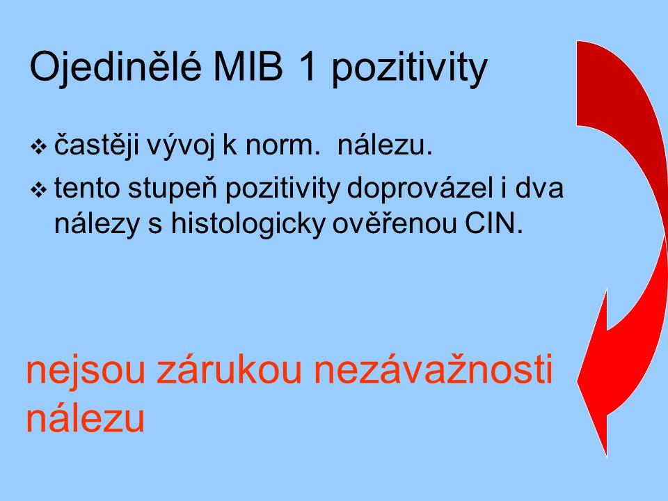 Ojedinělé MIB 1 pozitivity