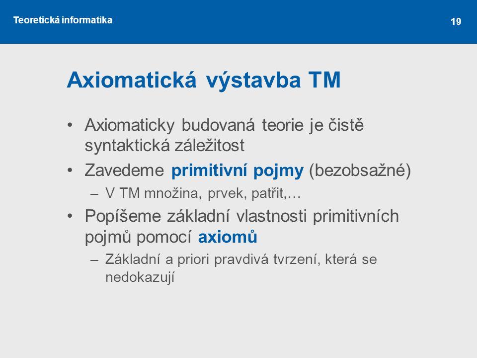 Axiomatická výstavba TM