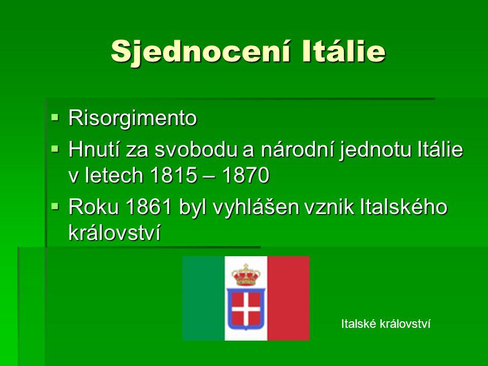 Sjednocení Itálie Risorgimento