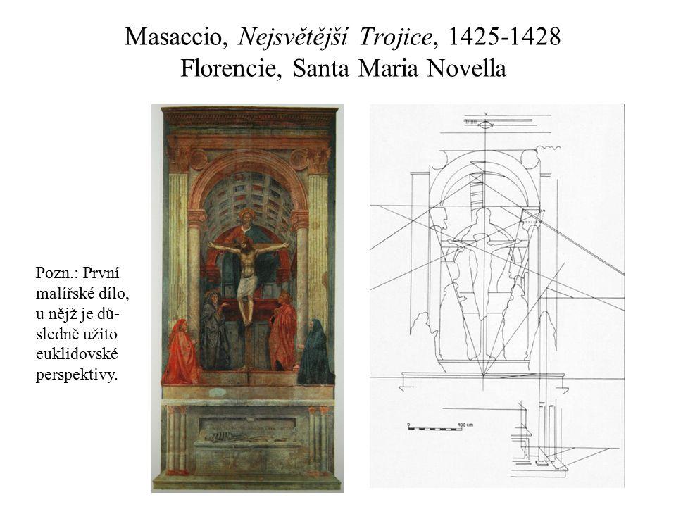 Masaccio, Nejsvětější Trojice, 1425-1428 Florencie, Santa Maria Novella